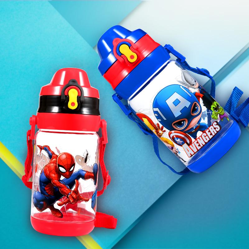 迪士尼女童水壶夏季幼儿园男童儿童水杯背带小学生随手杯