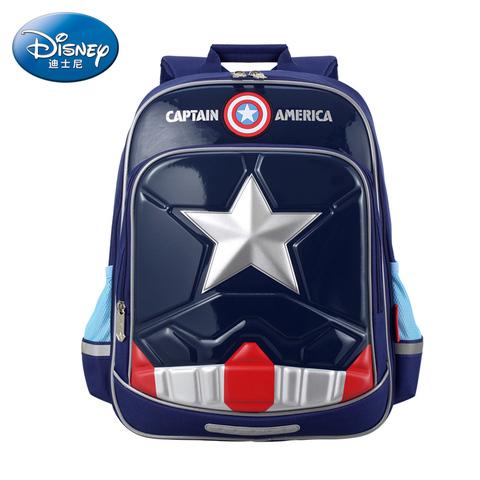 迪士尼书包小学生男孩1-3-4-6年级美国队长8-10-12岁儿童背包