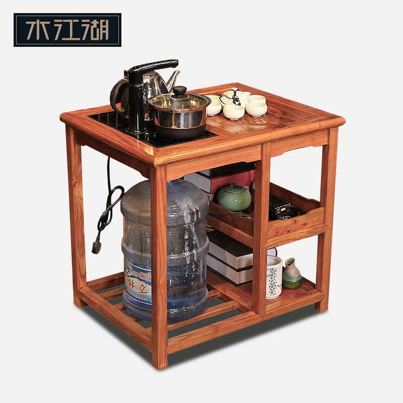 中式小茶几仿古一人小茶台家用功夫禅意阳台带烧水实木用茶桌