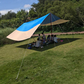 Sky monkey outdoor sunshade anti storm rain large sky tent camping silver glue hot sale convenient sunscreen customized