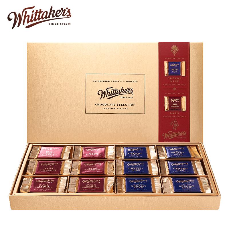预售 新西兰进口 Whittaker's 惠特克 巧克力礼盒 252g 天猫优惠券折后¥38.8包邮(¥168.8-130)送礼袋