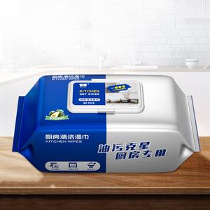 厨房清洁湿巾大包装特价去油去污油烟机专用纸巾家用油污一擦干净