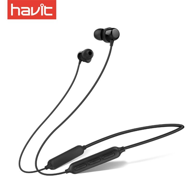 havit/海威特 I39运动蓝牙耳机无线跑步双耳入耳头戴式微小型高音质耳麦男女生适用vivo苹果iphone颈挂脖oppo