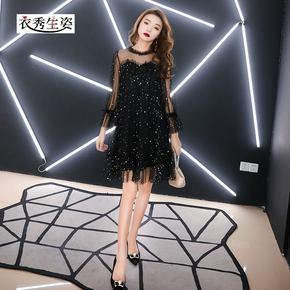 Черный ночь платья 2019 новый собираться супер иностранных наряд ночь может небольшой церемонии женская одежда праздник может день рождения партия платье, цена 2188 руб