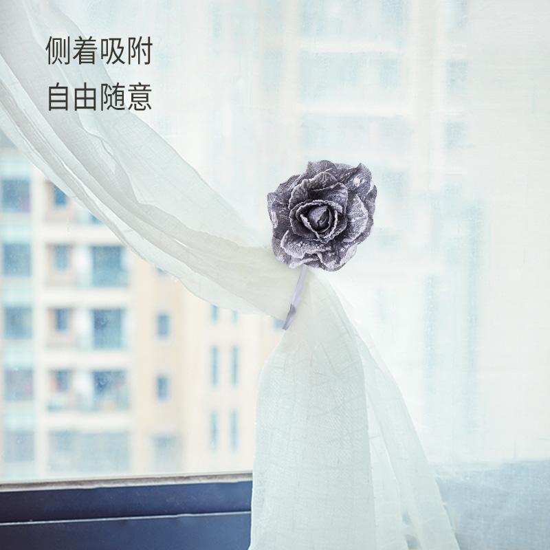 Подхват для штор Европейский цветок занавес ремешок занавес пряжка занавес галстук веревки магнит креативный цветок клип шторы связали цветок украшения бесплатная пунш