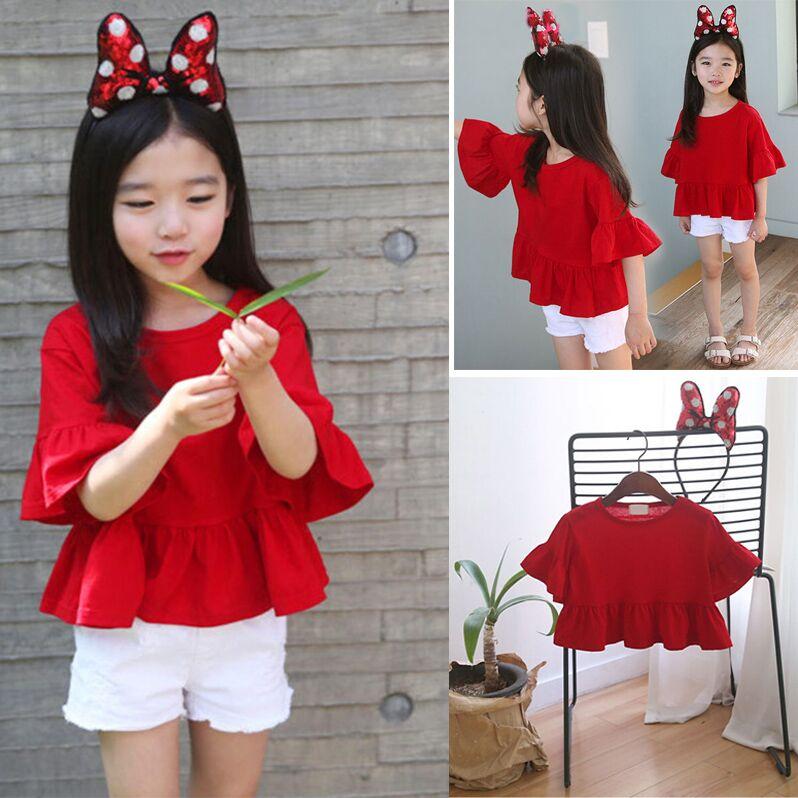女童装夏款短袖T恤儿童宝宝纯棉半袖娃娃衫中童上衣新品一件包邮