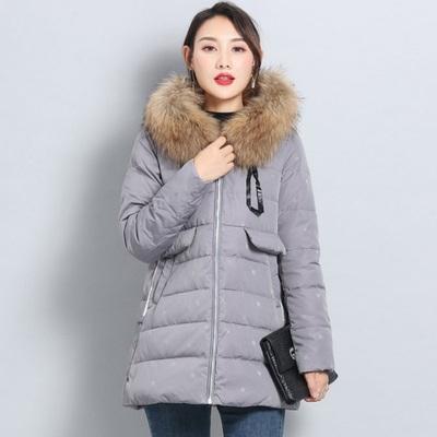 2018新款韩版羽绒服女中长款