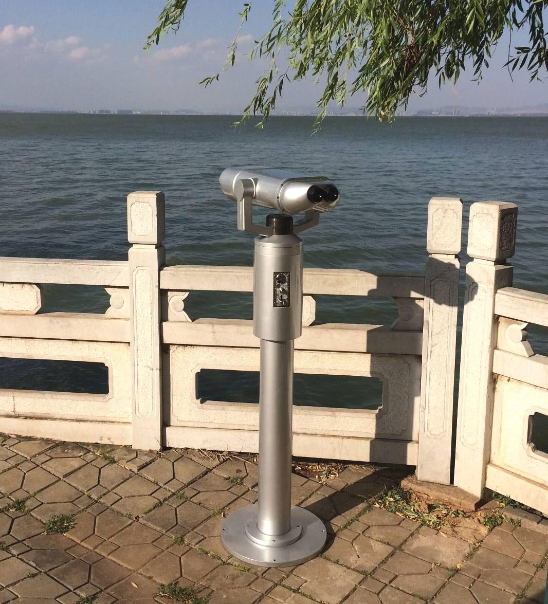 景区望远镜25/40X100风景旅游扫码投币观景高倍多功能