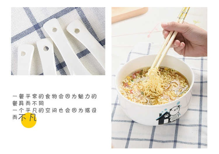 The kitchen creative Japanese Korean cartoon express it in ceramic tableware mercifully rainbow such as bowl suit large ceramic bowl with cover is work