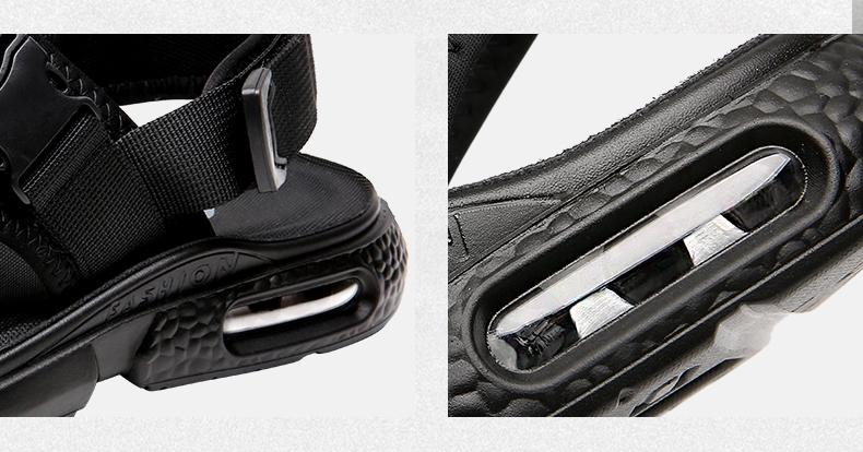 木林森 2020款男士凉鞋 厚底透气沙滩鞋 图7