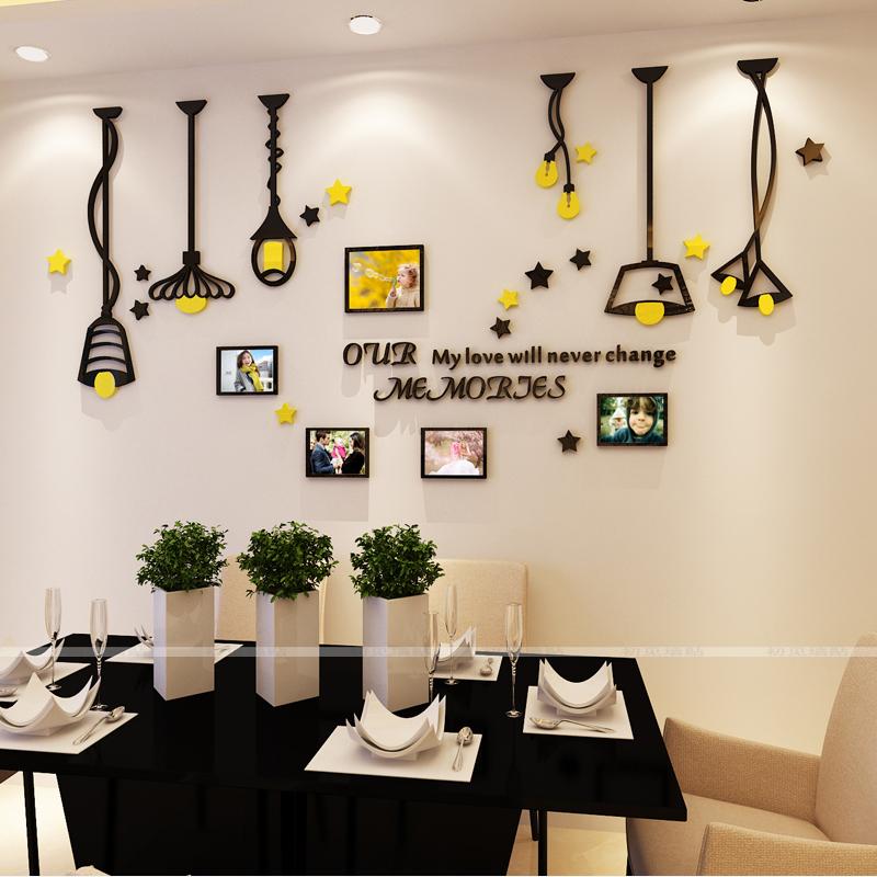 北欧创意相框墙亚克力3d卧室墙贴客厅墙餐厅背景照片立体墙装饰画