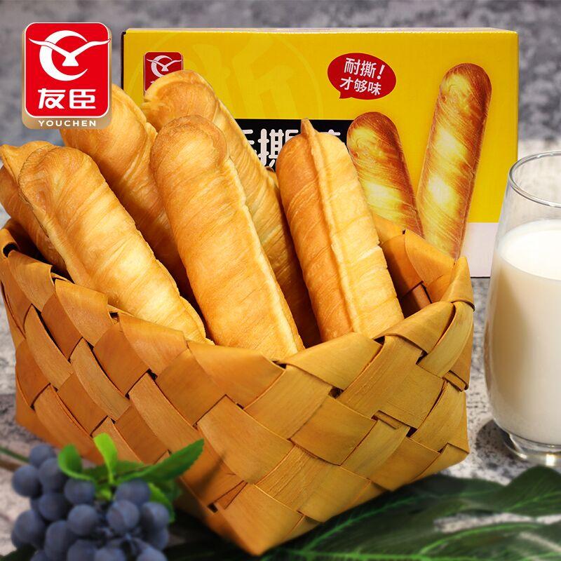 友臣法式手撕面包棒奶香原味学生营养早餐糕点心休闲零食小吃整箱
