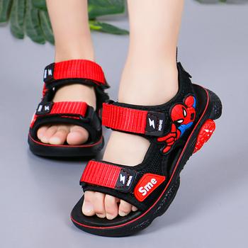 2020 лето корейская новая версия модель человек ребенок сандалии мальчик мягкое дно в больших детей скольжение мальчиков песчаный пляж обувной, цена 404 руб
