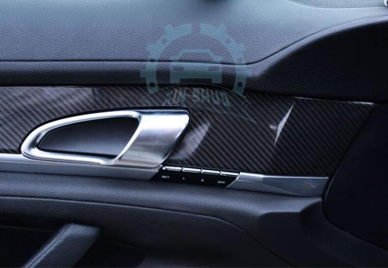 Carbon Fiber Dashboard Interior Cover Trims For Porsche PANAMERA 970 2014 2015