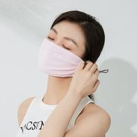 VVC夏天防晒口罩女防紫外线冰丝薄款透气遮阳面罩开车