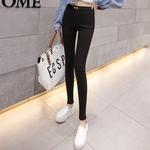 魔术裤女打底裤春秋加绒外穿2018新款韩版薄款长黑色九分小脚铅笔