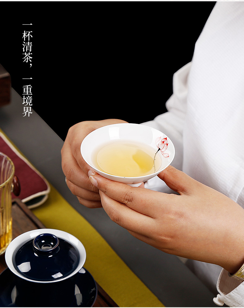 Jingdezhen hand - made hat to single sample tea cup cup cup kung fu masters cup but small cup household ceramics 6 pack