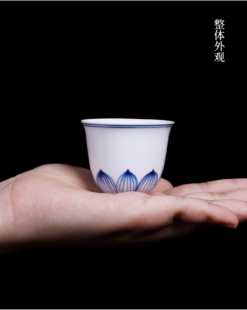 Jingdezhen hand - made white porcelain cup kung fu masters cup but small single move cups tea tea glass ceramics