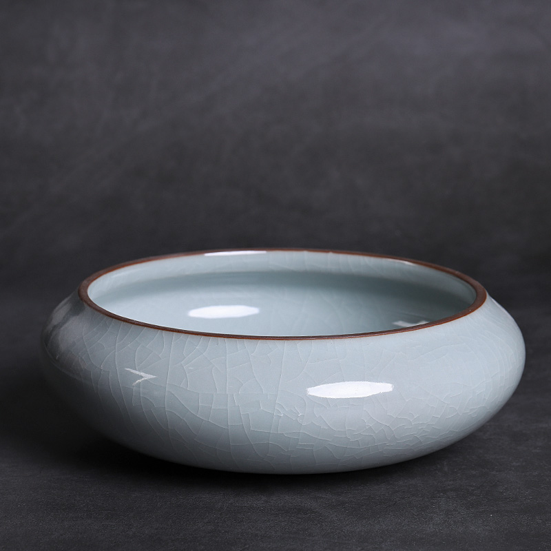 Large vessels of elder brother up for wash cup tea family tea wash basin of Japanese zen ceramic water jar for wash cup upset