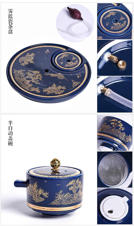Stone mill lazy tea set semi automatic teapot tea to prevent hot creative household ceramics kung fu tea cups
