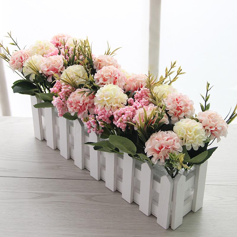 Hiasan Pagar Kayu Bunga Palsu Pasu Tiruan Sesuai Dengan Ruang Tamu Rumah Tertutup Plastik Hari Perkiraan Kanak