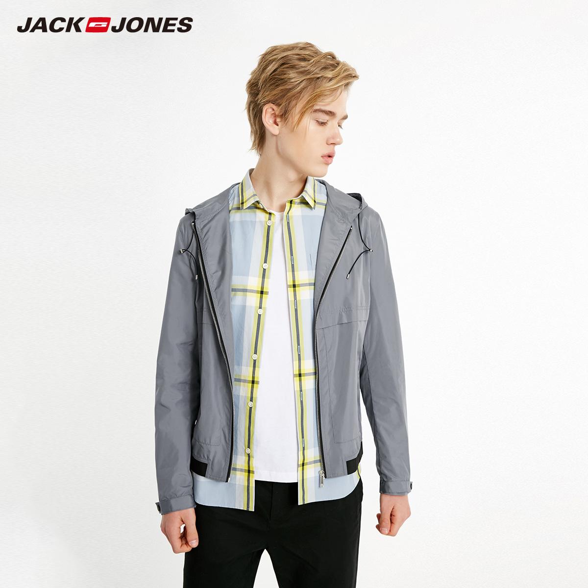 8色!杰克琼斯帽轻薄夹克外套