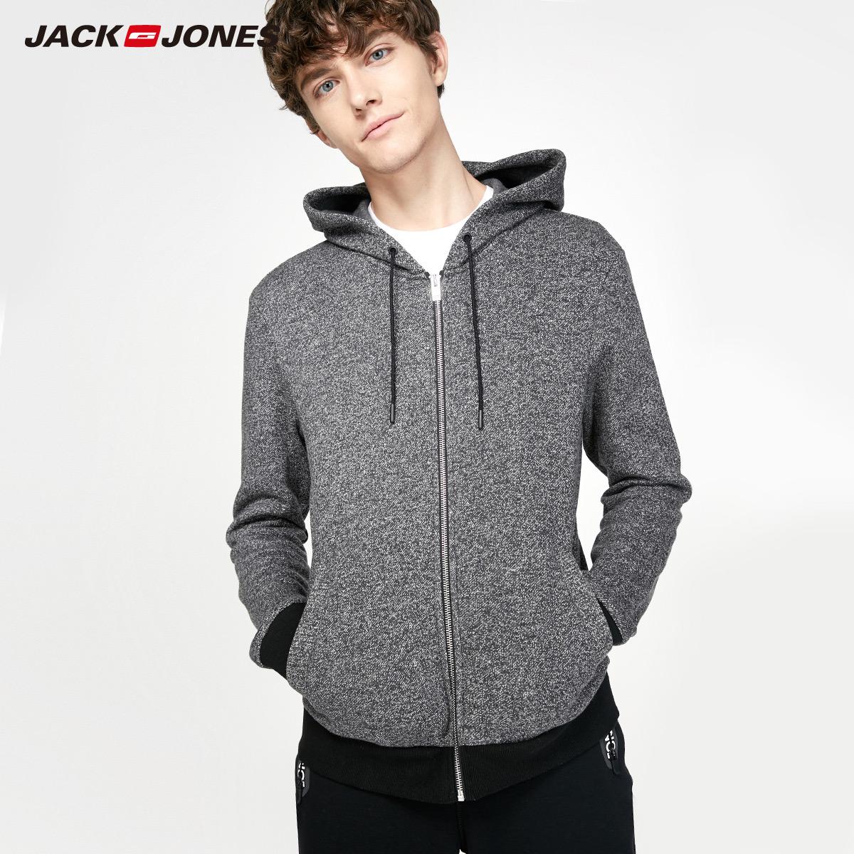 JackJones джек агат этот мужской весна студент движение любители молния кардиган закрытый серый свитер пальто