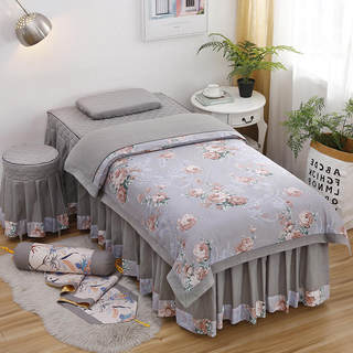 Four-piece set of quilt beauty bedspread, simple sanding beauty salon, massage skin management, moxibustion bed cover