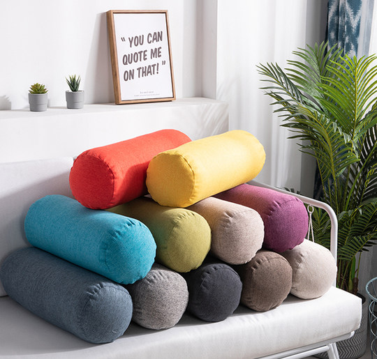 Repair and washable cotton and tender simple northern Europe home hold pillow sofa to go backrest pillow pillow long pillow cylindrical pillow