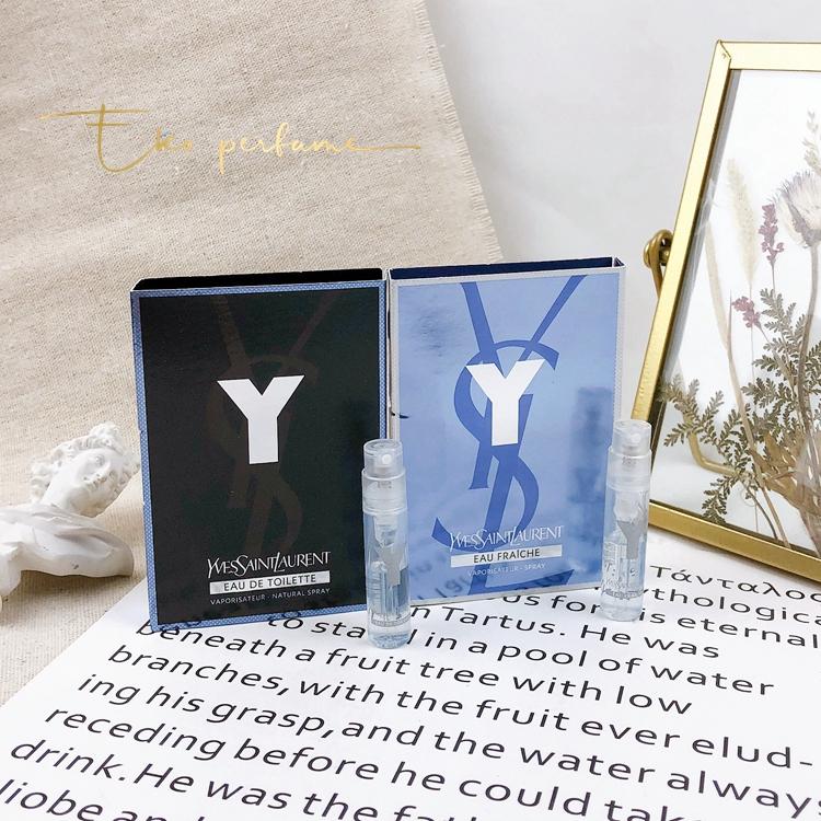 桃子美妝正品現貨 正品YSL圣羅蘭Yves Saint Laurent Y先鋒男士香水小樣試管1.2ML