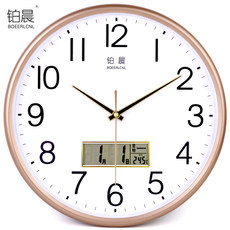 Platinum morning mute wall clock creative fashion quartz clocks simple clock living room bedroom clocks modern household wall charts