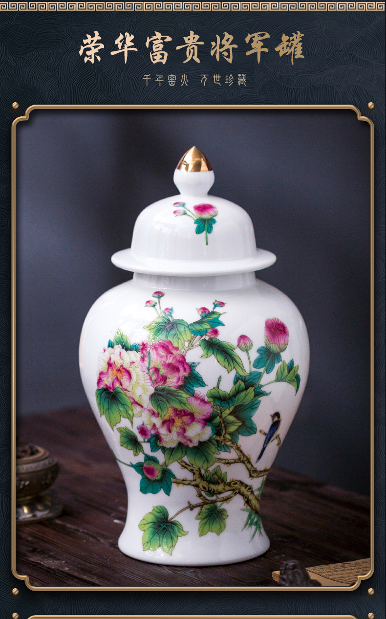 Jingdezhen ceramic general hand - made pot vase home sitting room porch rich ancient frame office furnishing articles ornament