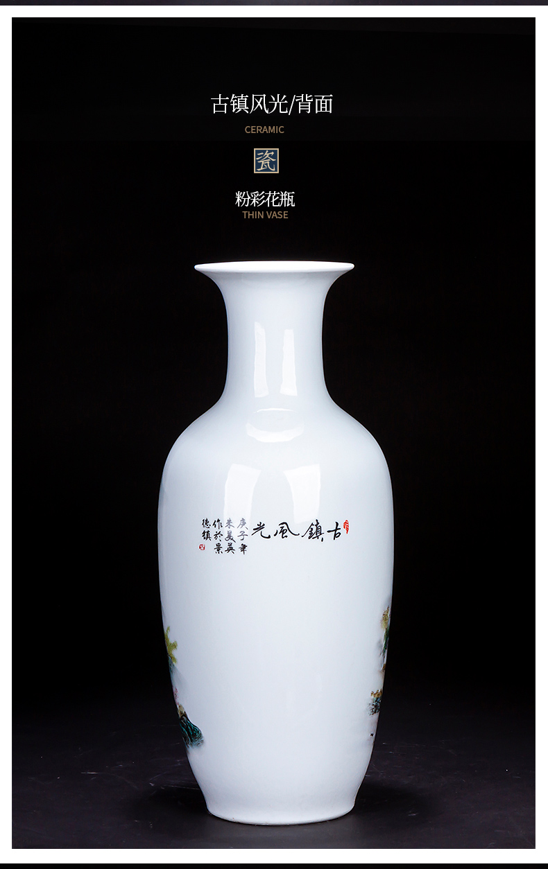 Large Chinese blue and white porcelain vase of jingdezhen ceramics sitting room place, TV ark, home decoration flower arrangement