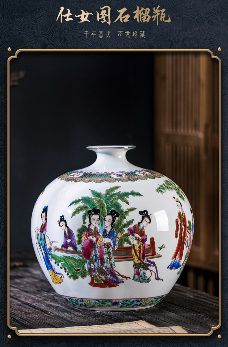 Jingdezhen ceramic hand - made paint had Chinese vase rich ancient frame sitting room office handicraft furnishing articles