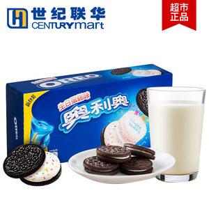 世纪联华 奥利奥夹心饼干黑白巧克力冰淇淋抹茶多口味194g