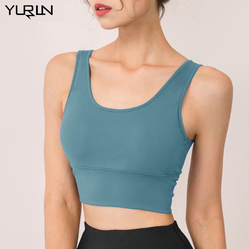 YURLN|玉儿恋瑜伽背心女带胸垫夏季2021新款普拉提服美背健身服