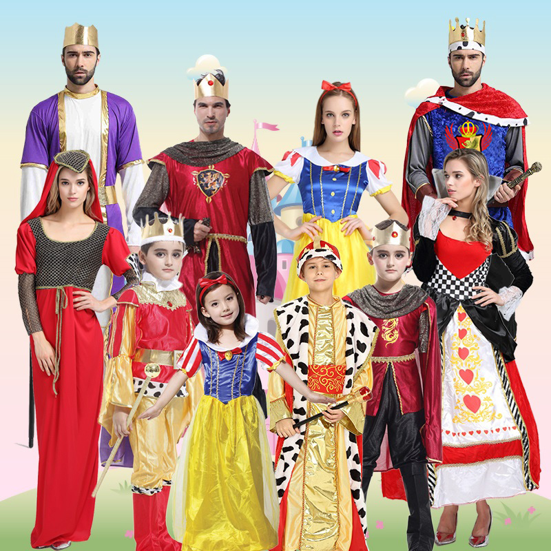 Halloween costume adult cosplay Prince Snow White Peach heart Queen  children Roman king costume