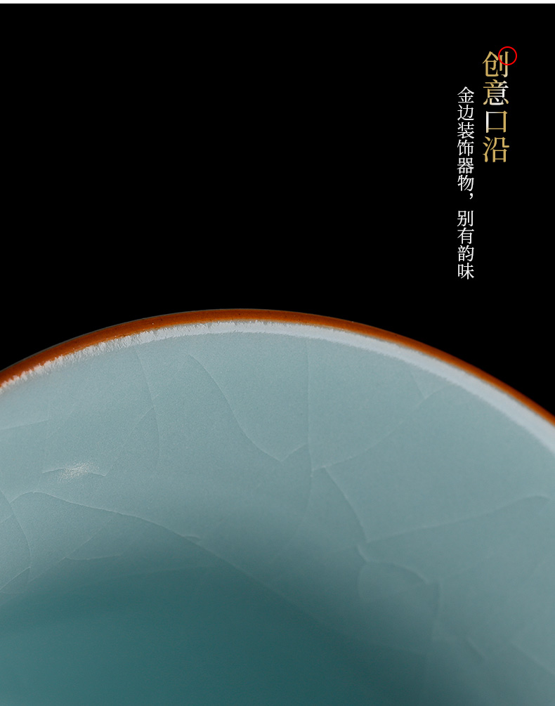 Your up three tureen large only pure manual have ice crack Your porcelain tea set a single kung fu tea bowl is not hot