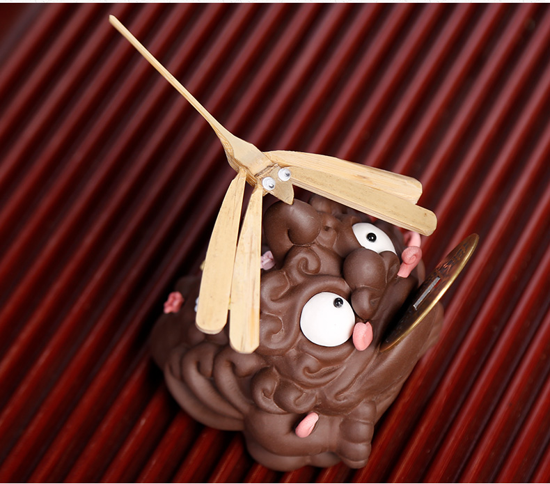 Three pure purple sand tea for its ehrs pet toad all fine furnishing articles in plutus individuality creative tea tea table decoration