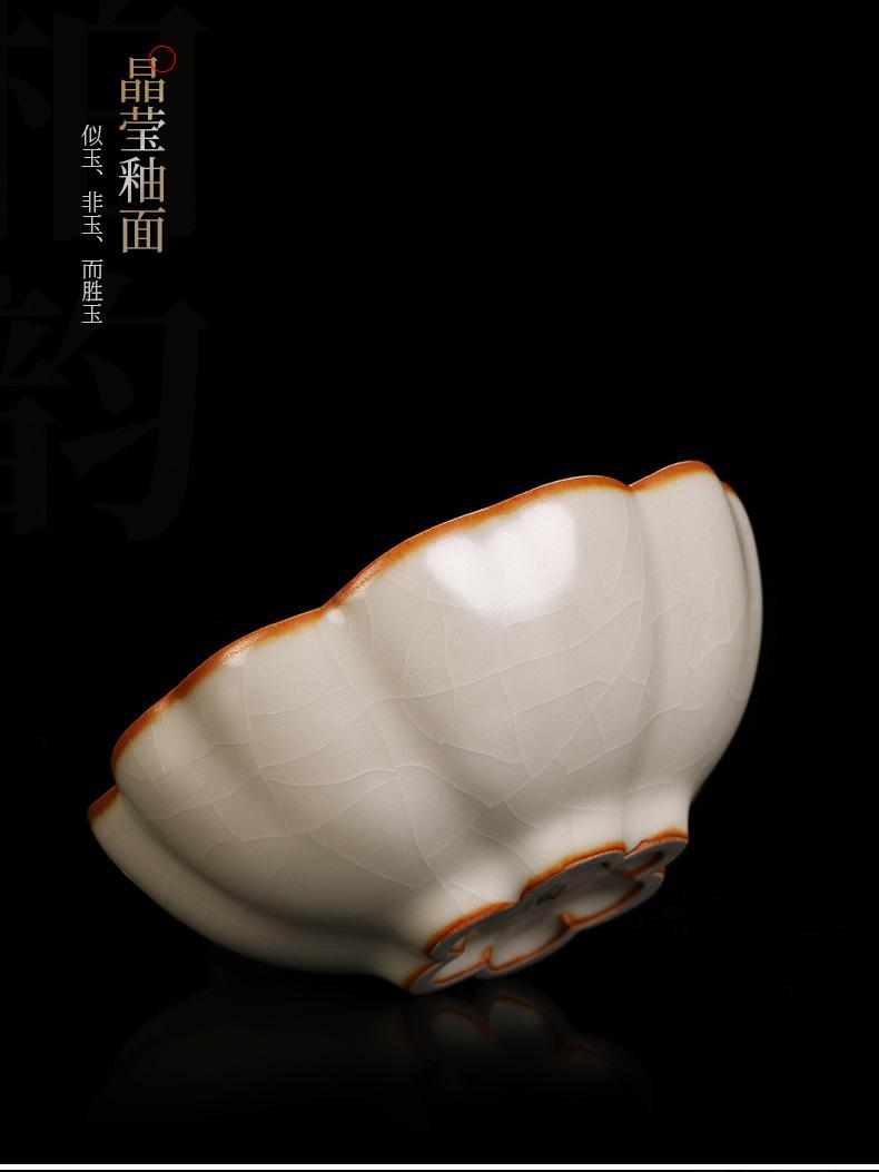 Copy your up porcelain teacup tea tea masters cup, slicing can be a single cup ice crack glaze pure manual kunfu tea individuals