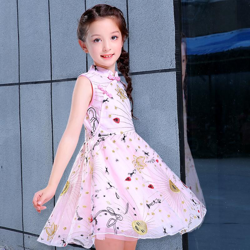 2018 New Girl Summer Dress Yarn Skirt Kids Dress Up Big Boy Foreign Gas Princess Skirt