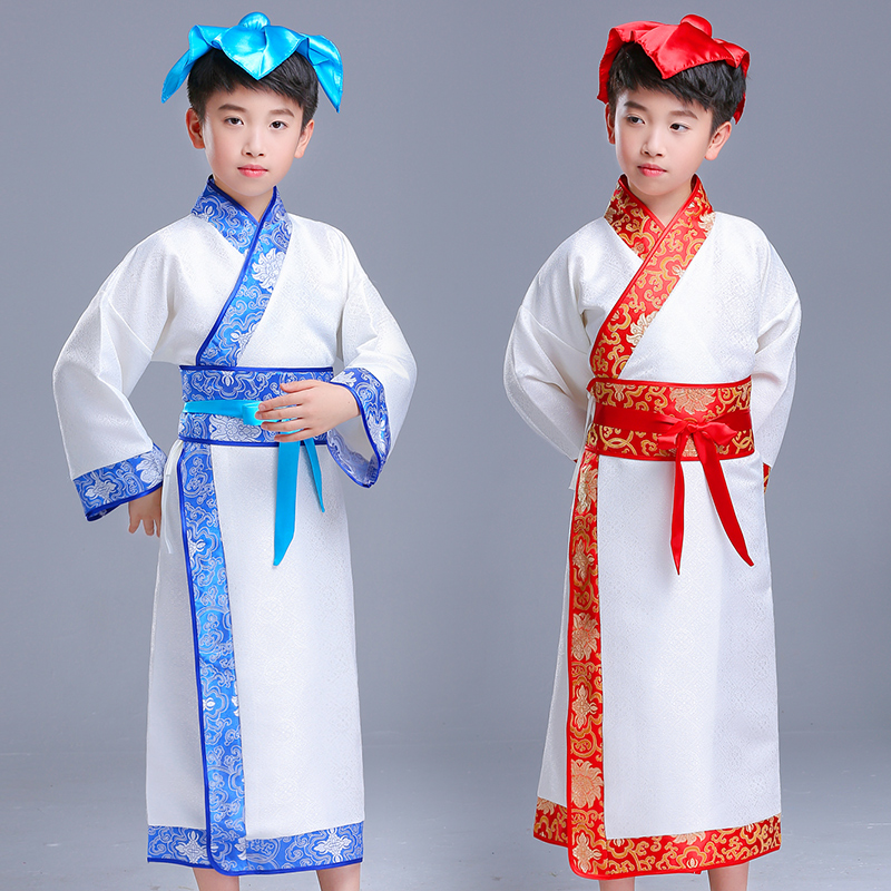 d64f14206d Children hanbok Chinese school clothes Boy Three Character Classic  disciples book children show performance clothing boy Chinese style costume
