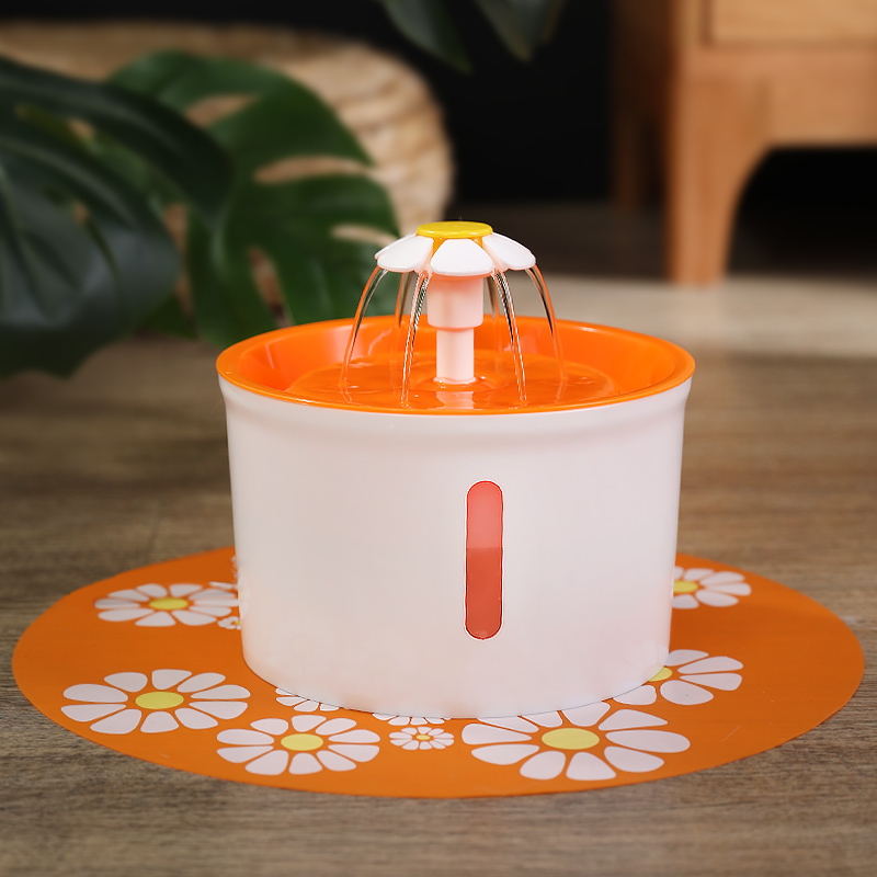2 Generations Can See The Small Flowers - Orange (buy One Get 3: Small Flower Fountain + Filter + Non-slip Mat)