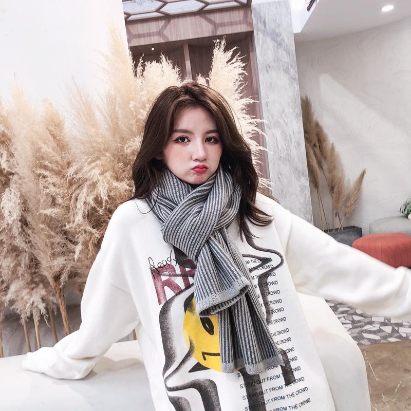 围巾女冬季韩版百搭长款加厚