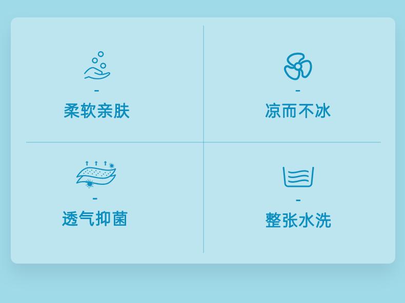 泰国进口 nittaya 云母冰丝系列 乳胶凉席三件套 1.5m/1.8m 图2