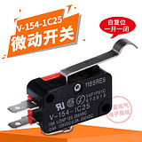 Miniature travel switch V-154-1C25 micro-motion limit switch self-reset 3-pin long handle