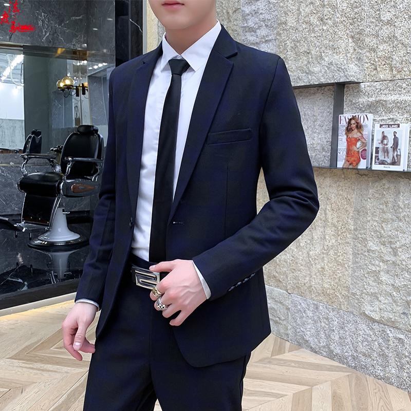 Bộ đồ vest nam hai mảnh phù hợp với giới trẻ chuyên nghiệp phù hợp với bộ đồ mỏng phù rể chú rể - Suit phù hợp