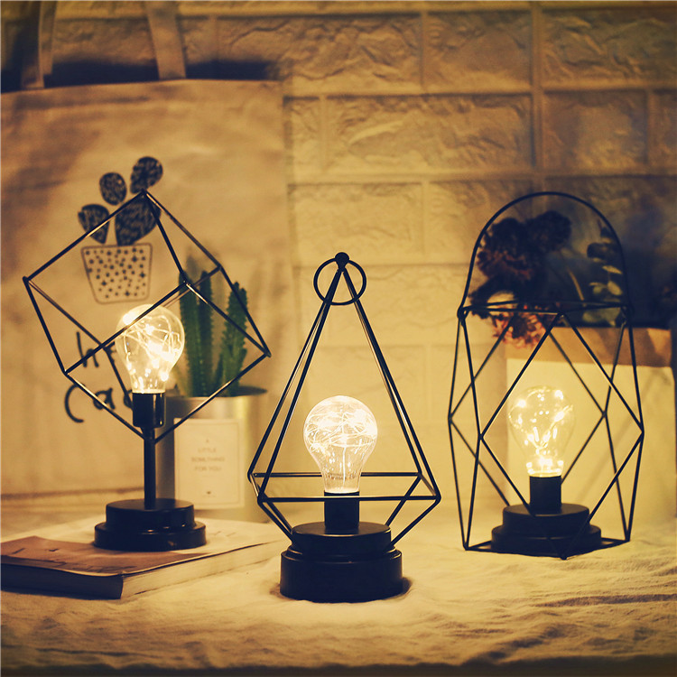 Nordic style INS minimalist copper wire lamp room bedroom girl heart ...