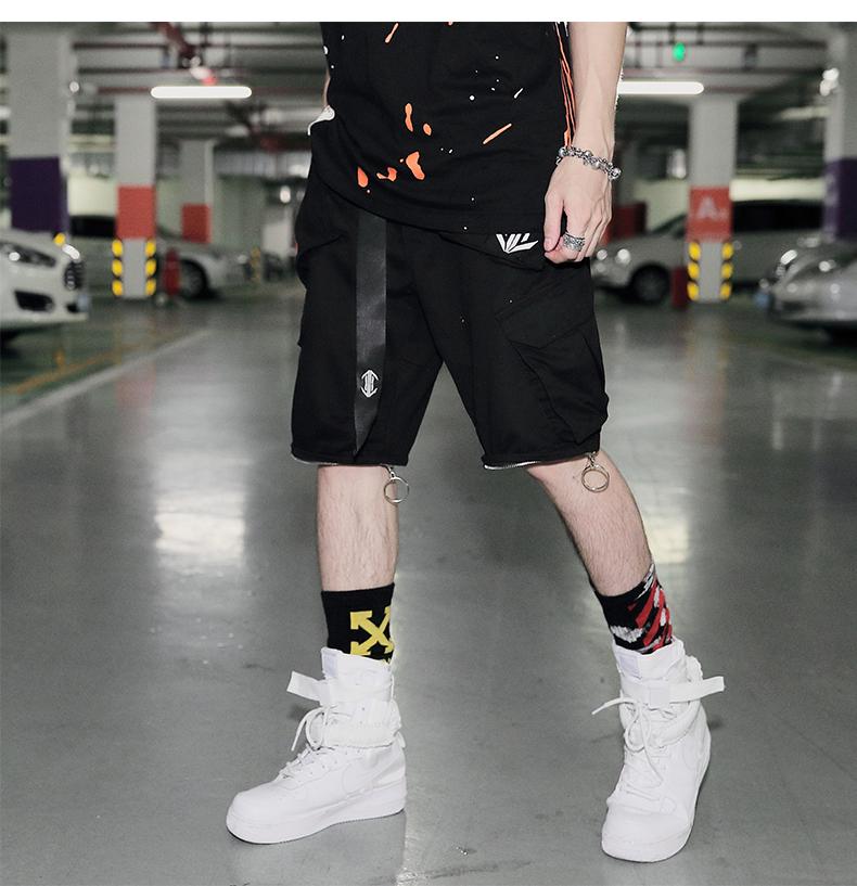 Freamve áo phản quang có thể tháo rời quần short dây đai quần quần nam giới và phụ nữ quần âu Lubasic-17KZ