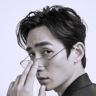 【金絲眼鏡框】抗藍光眼鏡男